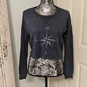 Hollister compass cropped sweatshirt
